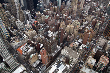 View from Empire State Building towards Midtown