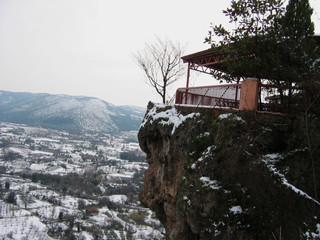 Tall Rock at Edessa Greece Europe