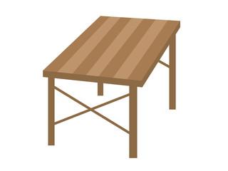 木製のテーブルのイラスト