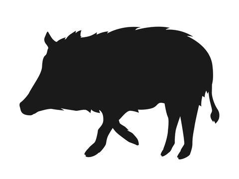 猪シルエット