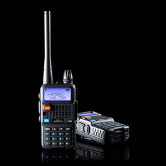 Two of dual band walkie-talkie
