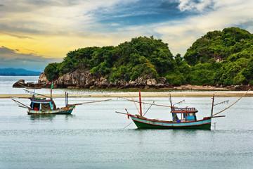 Fishing boat at beauty Island