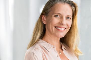 Senior woman smiling face
