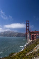 Golden Gate Bridge on a misty day