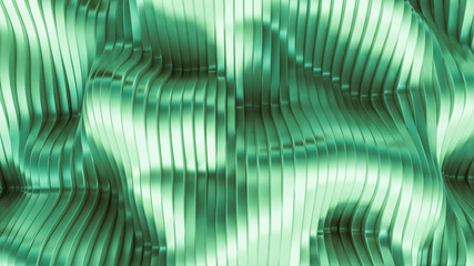 Green background with lines. 3d illustration, 3d rendering.