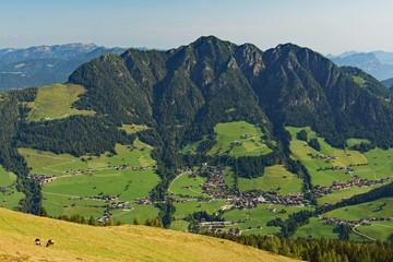 Bergpanorama im Alpbachtal