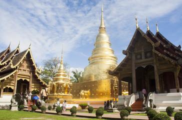Chiangmai,Thailand - 19- Aug-2018 : Wat Phra Sing Waramahavihan, It is a temple of Chiang Mai.