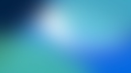 Abstract background blue blur gradient with bright clean and bokeh