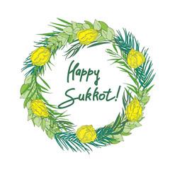 Sukkot Jewish Holiday background.