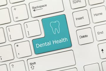 White conceptual keyboard - Dental Health (blue key)