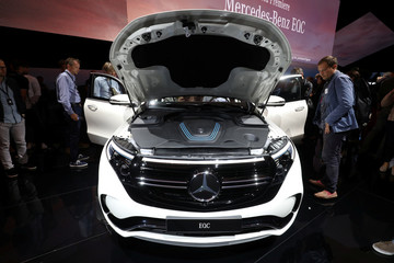 A Mercedes EQC, new electric SUV unveiled by Mercedes-Benz, is seen at Artipelag art gallery in Gustavsberg