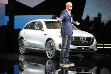 Dieter Zetsche, CEO Daimler AG and Head of Mercedes-Benz Cars, during a presentation of Mercedes EQC, new electric SUV at Artipelag art gallery in Gustavsberg