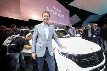 Ola Kallenius, Head of research and development at Daimler, during a presentation of Mercedes EQC, new electric SUV at Artipelag art gallery in Gustavsberg