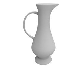 3d render of a white jug