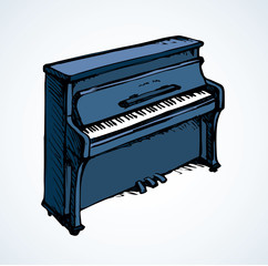 Vector drawing of grand piano