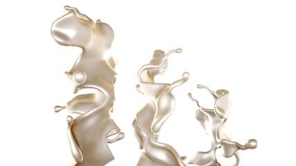 A splash of white paint. 3d illustration, 3d rendering.