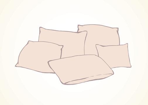 Pillow. Vector drawing