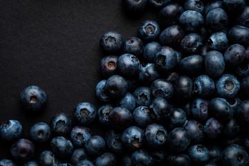 background of berries of juicy blueberries