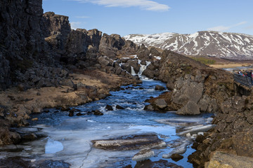 The infamous Drowning Pool in Iceland