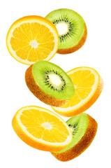 Flying Oranges with kiwi