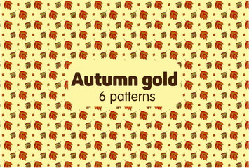 Autumn gold 6 patterns