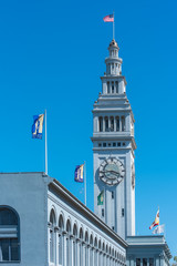 San Francisco, the Ferry building, detail