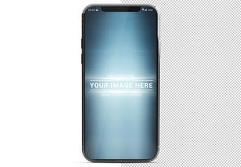 Smartphone Mockup on White Background