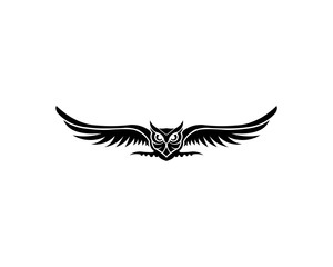 Owl logo - vector illustration. Emblem design on white background