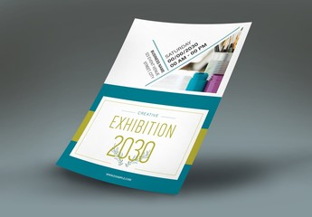 Flyer Layout with Angled Text