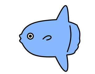 マンボウ(青)