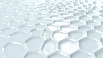 White geometric background with relief. 3d illustration, 3d rendering.