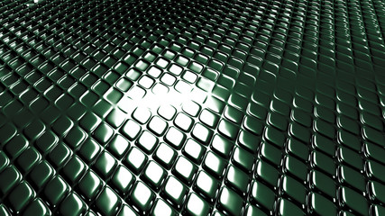 Green geometric background with relief. 3d illustration, 3d rendering.