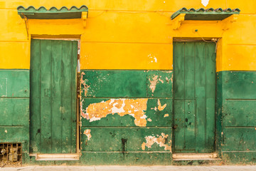 A typical view in Cartagena in Colombia. Wall mural