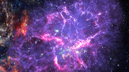 Cosmic galaxy background with nebula. Elements of this image furnished by NASA.