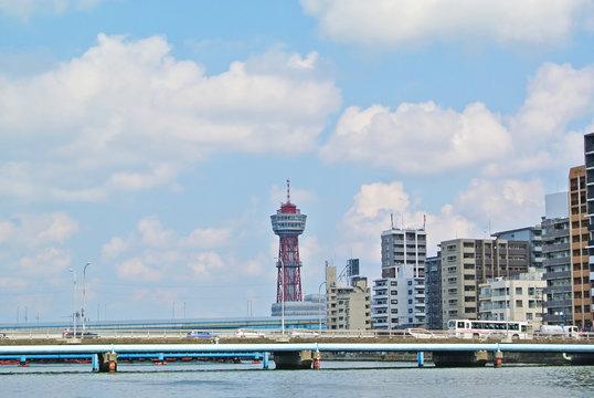 水上バスから見える博多港の風景(福岡市博多区)