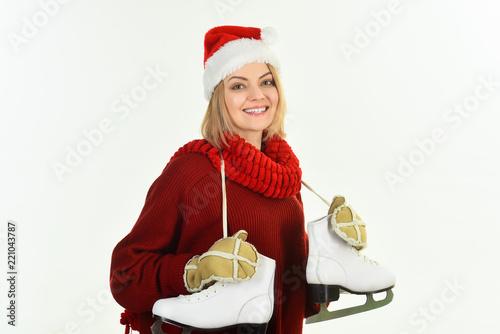 f6c591ba6c0 Woman in Santa hat
