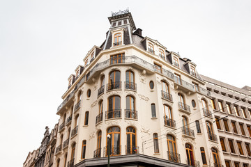Beautiful antique building in Brussels city center