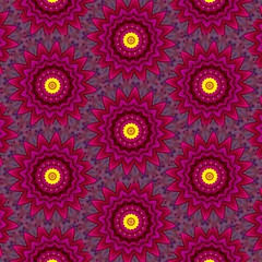 Multicolored, red, maroon, purple, yellow abstract floral pattern background