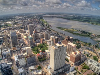 Memphis is a City and Urban Center in Western Tennessee