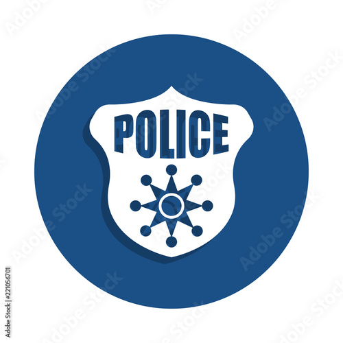 Police Badge Icon In Badge Style One Of Police Collection Icon Can