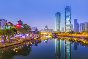 Urban architectural landscape of Jinjiang, Chengdu..
