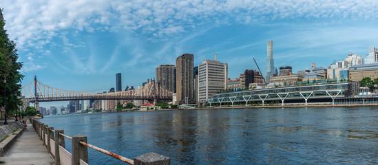 Queensboro Bridge and Manhattan city, New York