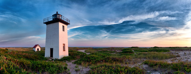 Fototapeten Leuchtturm Wood End lighthouse in Provincetown, Massachusetts, USA.