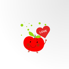 cute fruits logo icon for t-shirt design