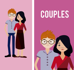 Cute couples cartoons