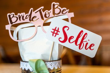Retro Party set selfie sign design photo booth party wedding funny pictures