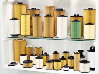 Filter elements for car in shop