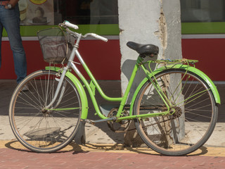 OLD BICYCLE OF PARKING TO THE SUN, VEGELLINA, LEON, SPAIN, EUROPE, JULY 16, 2018