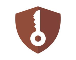 key shield secure protect image vector icon logo symbol