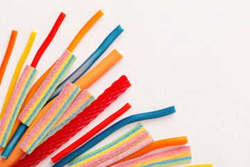 Long chewy jelly sweet candies